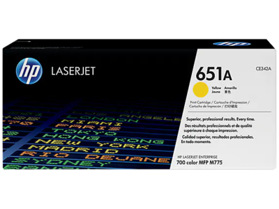 HP 651A YELLOW LJ TONER FOR MFP M775  YIELD 16000