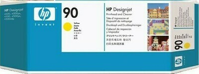 HP No. 90 Yellow Printhead and Cleaner  (C5057A)