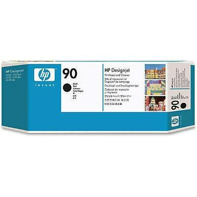HP No. 90 Black Printhead and Cleaner  (C5054A)