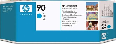 HP No. 90 Cyan Printhead and Cleaner  (C5055A)