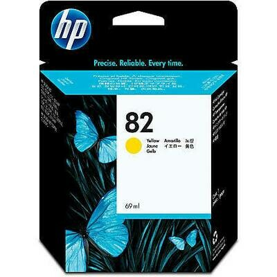 HP No. 82 Ink Cartridge Yellow 69ml  (C4913A)