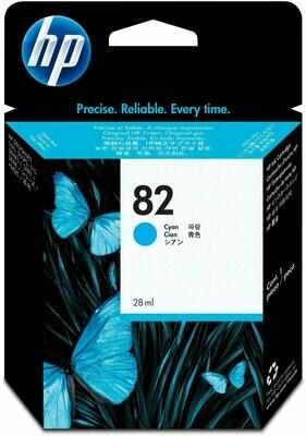 HP No. 82 Ink Cartridge Cyan 69ml  (C4911A)