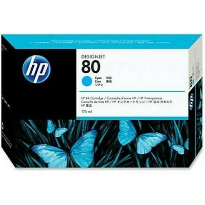 HP No. 80 Ink Cartridge Cyan 175ml