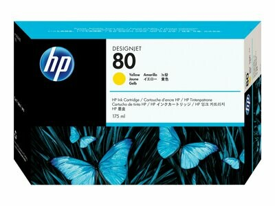 HP No. 80 Ink Cartridge Yellow 175ml