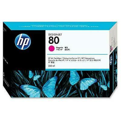 HP No. 80 Ink Cartridge Magenta 350ml  (C4847A)