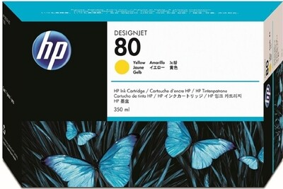 HP No. 80 Ink Cartridge Yellow 350ml  (C4848A)