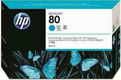 HP No. 80 Ink Cartridge Cyan 350ml  (C4846A)