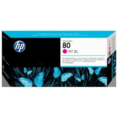 HP No. 80 PrintHead and Cleaners Magenta  (C4822A)