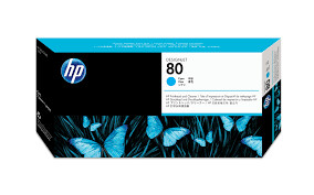 HP No. 80 PrintHead and Cleaners Cyan  (C4821A)
