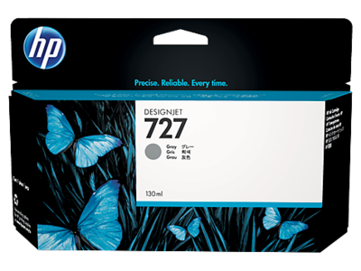 HP No. 727 130ml Grey Ink Cartridge (B3P24A)