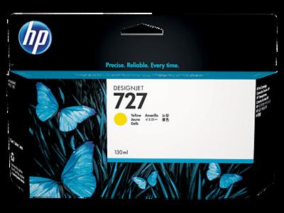 HP No. 727 130ml Yellow Ink Cartridge (B3P21A)
