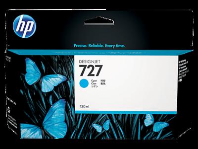 HP No. 727 130ml Cyan Ink Cartridge (B3P19A)