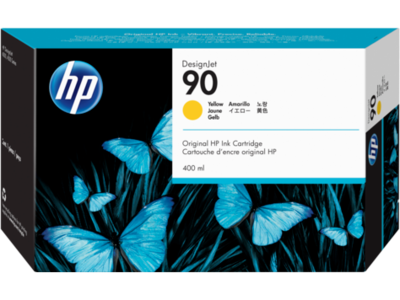 HP No. 90 Yellow Ink Cartridge (400 ml)  (C5065A)