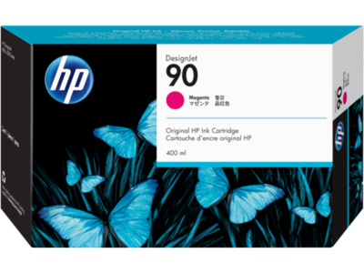 HP No. 90 Magenta Ink Cartridge (400 ml)  (C5063A)