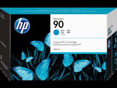 HP No. 90 Cyan Ink Cartridge (400 ml)  (C5061A)