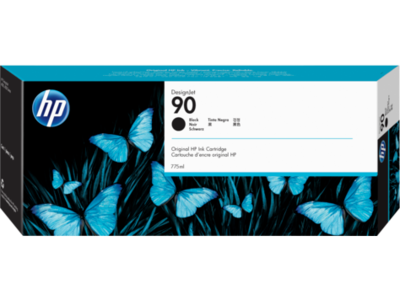 HP No. 90 Black Ink Cartridge (775 ml)  (C5059A)