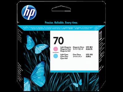 HP 70 Printhead Light Cyan and Light Magenta (C9405A)