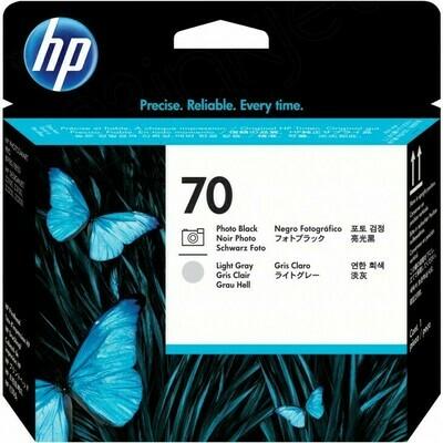 HP 70 Printhead Photo Black and Light Grey (C9407A)