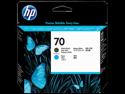HP 70 Printhead Matte Black and Cyan  (C9404A)
