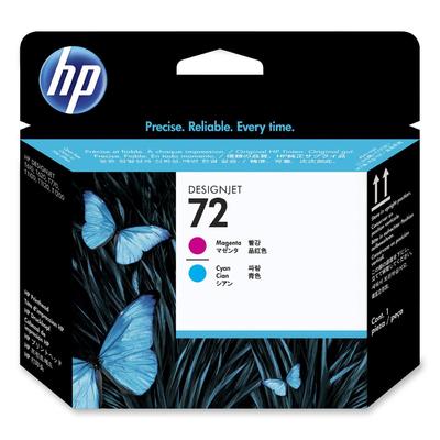 HP No. 72 Magenta & Cyan Printhead (C9383A)
