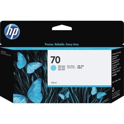 HP 70 Ink Cartridge Light Cyan 130ml (C9390A)