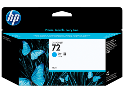 HP No. 72 130 ml Cyan Ink Cartridge (C9371A)