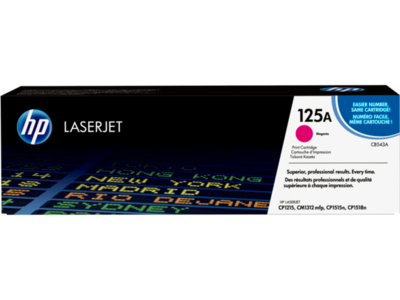 HP LASERJET CP1215/1515 MAGENTA CARTRIDGE HP MAGENTA PRINT CARTRIDGE WITH HP COLORSPHERE TONER  FOR HP COLOR COLORLASERJET CP1215/1515/1518 AND CM1312 PRINTERS 1400 PAGES