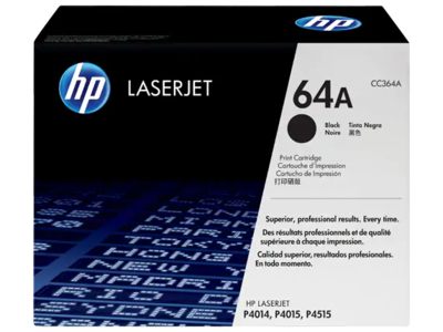 HP LASERJET 10K BLACK TONER CARTRIDGE CONTAINS ONE HP LASERJET CC364A STANDARD CAPACITY BLACK PRINT CARTRIDGE. PRINTS  APPROXIMATELY 10 000 PAGES USING THE  ISO/IEC 19752 YIELD STANDARD.