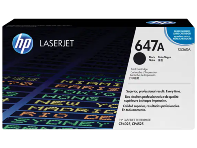 HP CLJ CP4525/CP4025 BLACK PRINT CARTRIDGE PRINTS APPROXIMATELY 8 500 PAGES USING THE ISO/IEC 19798 YIELD STANDARD.
