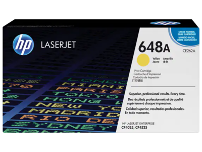 HP CLJ CP4525/CP4025 YELLOW PRINT CARTRIDGE PRINTS APPROXIMATELY 11 000 PAGES USING THE ISO/IEC 19798 YIELD STANDARD.