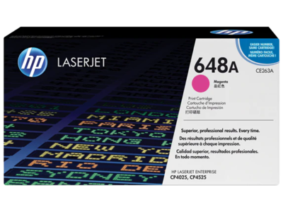 HP CLJ CP4525/CP4025 MAGENTA PRINT CARTRIDGE PRINTS APPROXIMATELY 11 000 PAGES USING  THE ISO/IEC 19798 YIELD STANDARD.