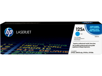 HP COLOR LASERJET CP1215/1515 CYAN CARTRIDGE HP CYAN PRINT CARTRIDGE WITH HP COLORSPHERE TONER  FOR HP COLOR COLORLASERJET CP1215/1515/1518 AND CM1312 PRINTERS 1400 PAGES
