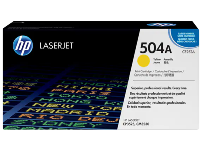 HP CP3525/CM3530 MFP YELLOW PRINT CARTRIDGE CONTAINS 1 HP LASERJET CP3525/CM3530 MFP STANDARD CAPACITY YELLOW CARTRIDGE PRINTS APPROXIMATELY 7 000 PAGES USING ISO/IEC 19798 YIELD STANDARD