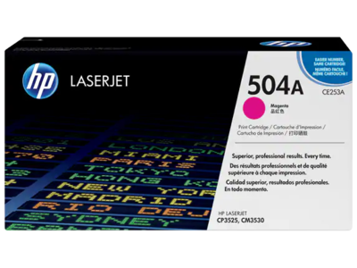HP CP3525/CM3530 MFP MAGENTA PRINT CARTRIDGE CONTAINS 1 HP LASERJET CP3525/CM3530 MFP STANDARD CAPACITY MAGENTA CARTRIDGE PRINTS APPROXIMATELY 7 000 PAGES USING ISO/IEC 19798 YIELD STANDARD