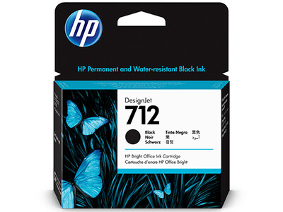 HP No. 712 80ml Black DesignJet Ink Cartridges for T200 and T600 Series (3ED71A)