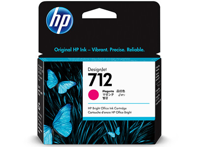 HP No. 712 29ml Magenta DesignJet Ink Cartridges for T200 and T600 Series (3ED68A)