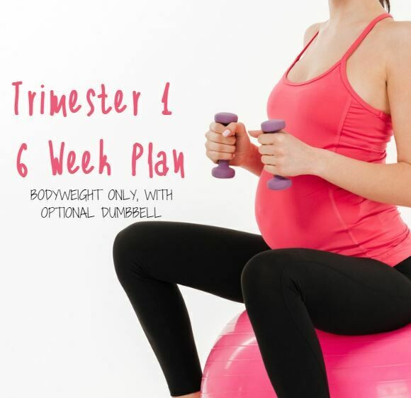 Trimester 1 Body Weight Workout 6 Weeks