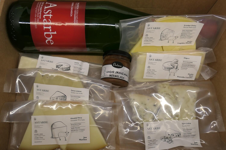 Pack quesos vascos especiales con sidra / Euskal gazta berezien kaxa sagardoarekin