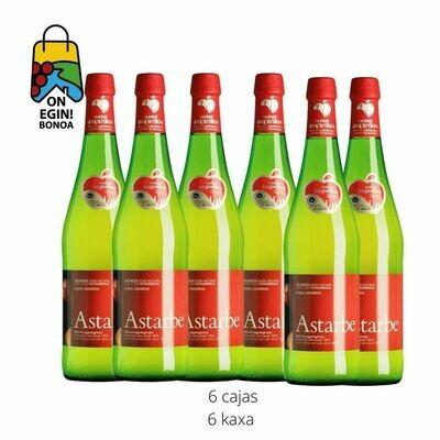 6 cajas de 6 botellas / 6 botilako 6 kaxa