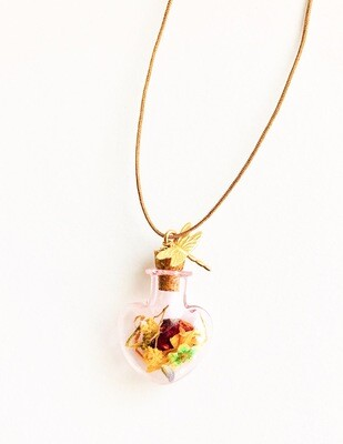 Botanical heart bottle cord