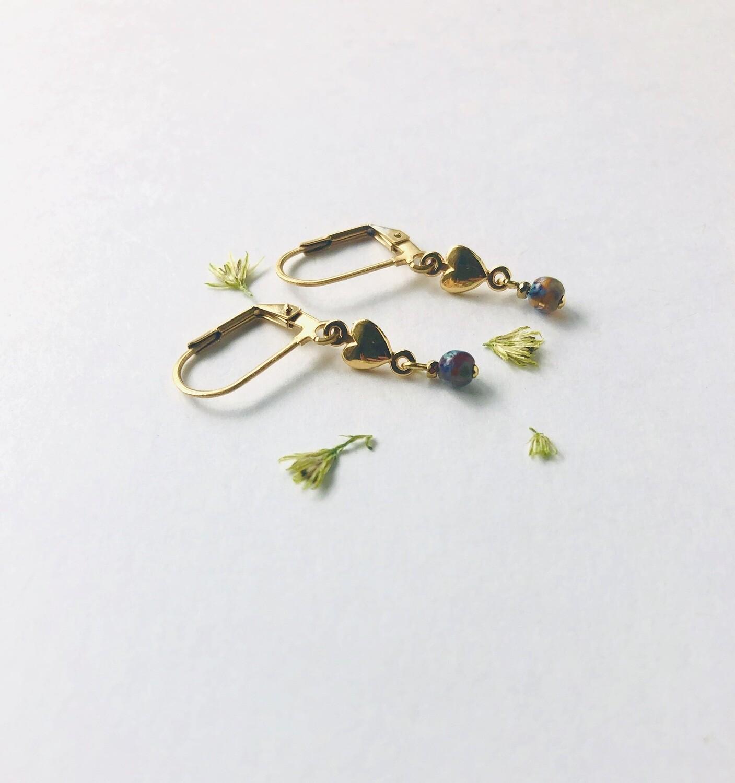 Iseo piccolo heart earrings