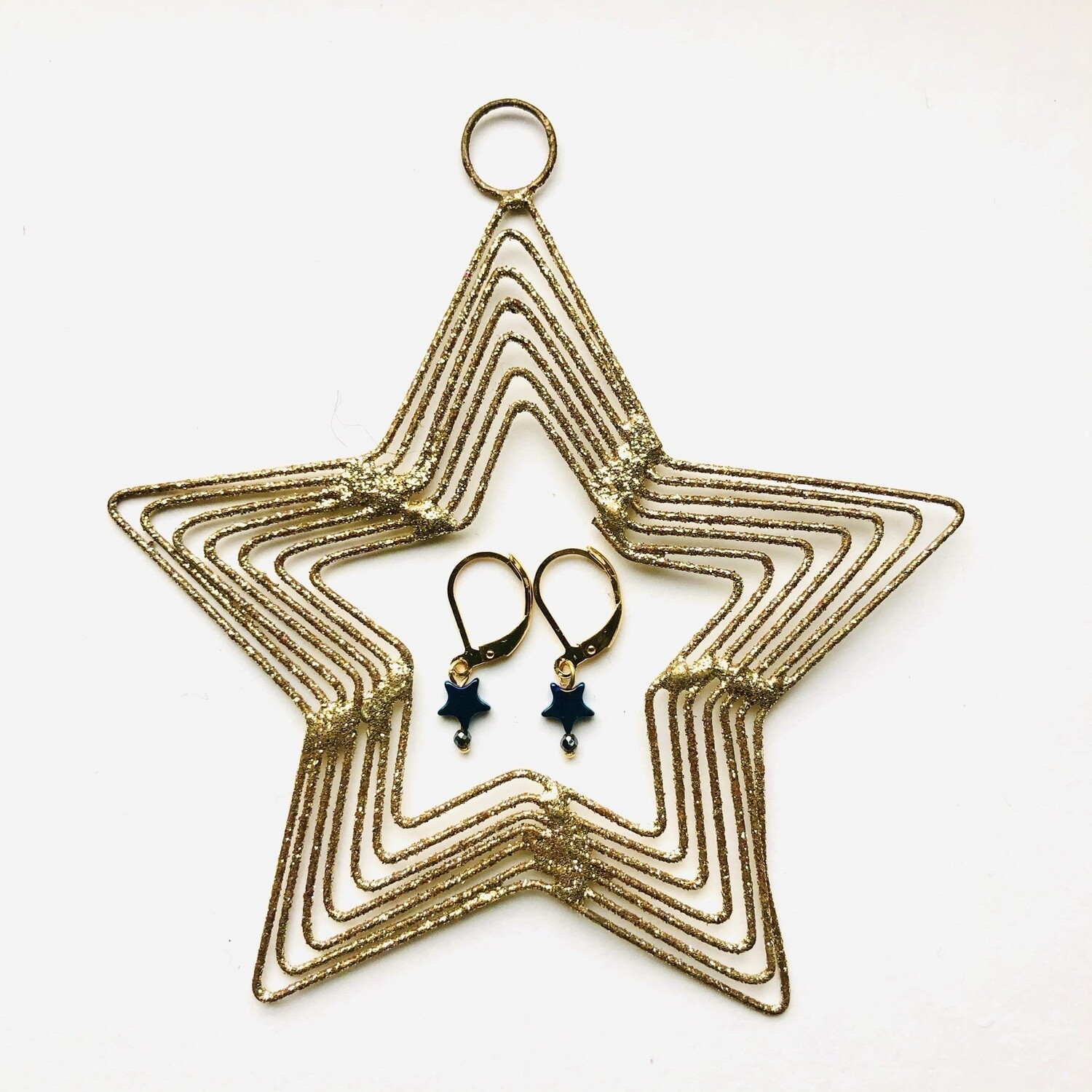 The little star earrings