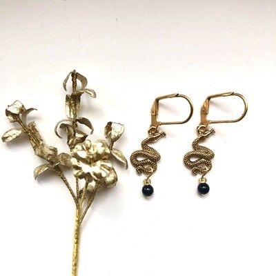 The rattle snake earrings