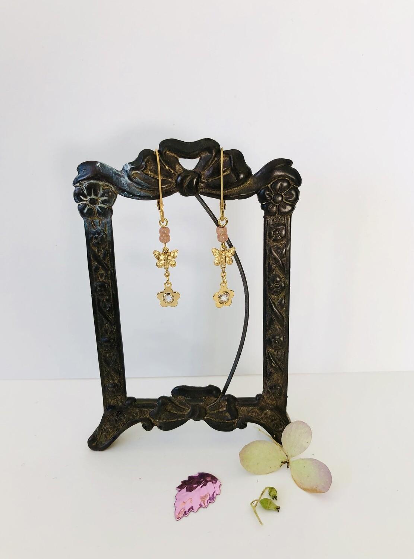 Sweet flower &  butterfly earrings