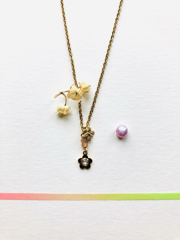 Sweet flower & butterfly necklace