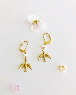 Kahlo birds Sakura earrings