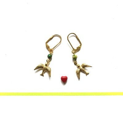 Kahlo birds earrings