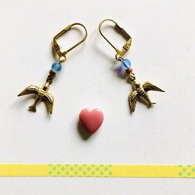 Kahlo blue birds  earrings
