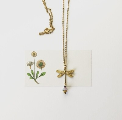 Magical dragonfly flower necklace