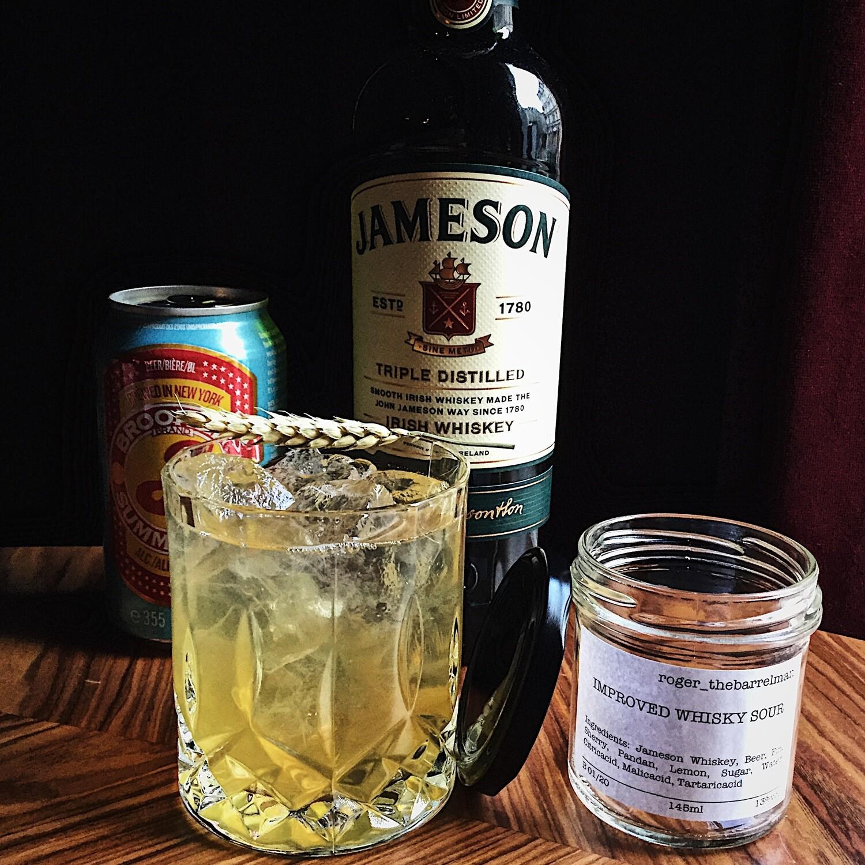 roger_thebarrelman Cocktail - Improved Whisky Sour